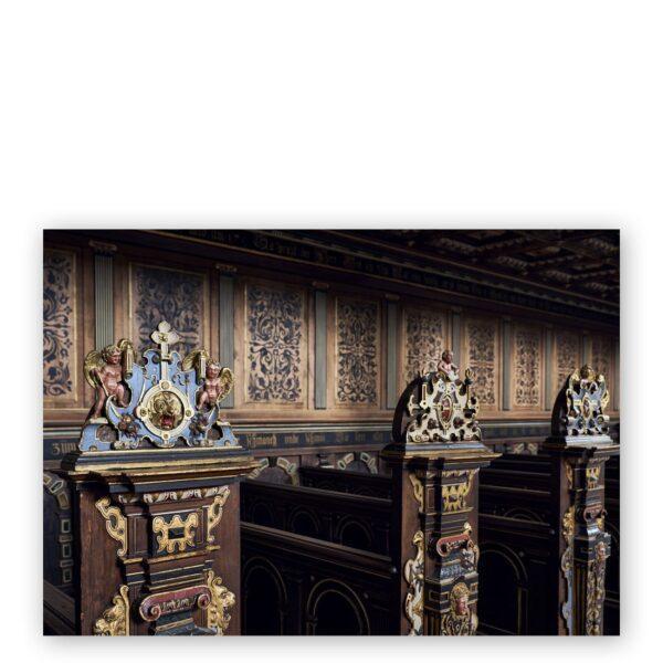 Postkort A5 - Murværket i slotsgården